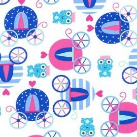 Tissu Princess Life Bleu x 10cm
