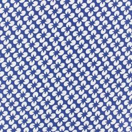 Floraison Poplin Fabric - Navy blue x 10cm
