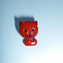 Cat-shaped button - red