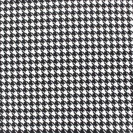 Tissu popeline Pied de poule Noir & Blanc x 10cm