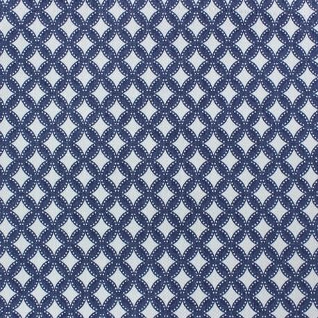 Tissu Jean Losange élasthanne x 10cm