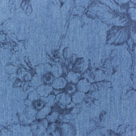 Fluid abstrait A jeans fabric x 10cm