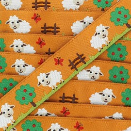 Woven Ribbon, sheep - Orange