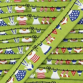 Woven Ribbon, laundry - Green