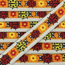 Woven Ribbon, ladybird - Orange