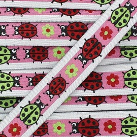 Woven Ribbon, ladybird - Pink