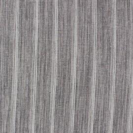 Tissu lin à rayures Wallin gris souris x 10cm