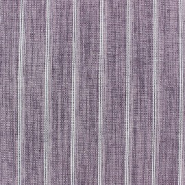 Striped Linen Fabric - Wallin Old Pink x 10cm