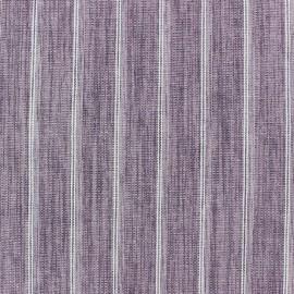 Tissu lin à rayures Wallin Vieux rose x 10cm