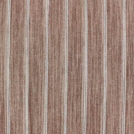 Striped Linen Fabric - Wallin Brick x 10cm