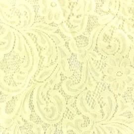 Tissu Dentelle ajourée Larnia Ecru x 10cm