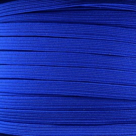 Élastique plat 5 mm bleu
