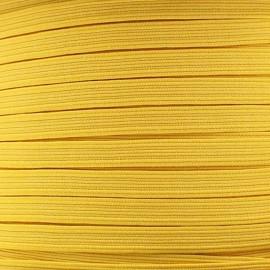 Élastique plat 5 mm jaune