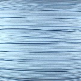 Élastique plat 5 mm bleu ciel