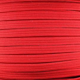 Élastique plat 5 mm rouge