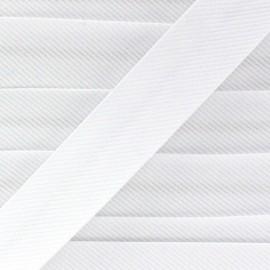 Biais fantaisie Piqué de coton blanc
