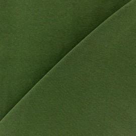 Tissu jersey uni Kaki x 10cm