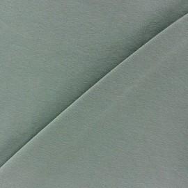 Tissu jersey uni - Vert sauge x 10cm