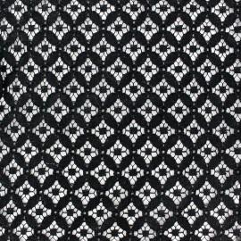 Tissu coton ajouré Scholl Noir x 10cm
