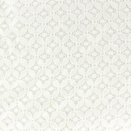Scholl Openwork Cotton Fabric - Ecru x 10cm