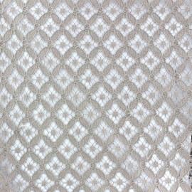 Tissu dentelle coton Scholl Brun clair x 10cm