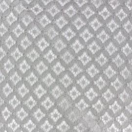 ♥ Coupon 80cm X 140 cm ♥ Tissu dentelle coton Scholl Gris souris