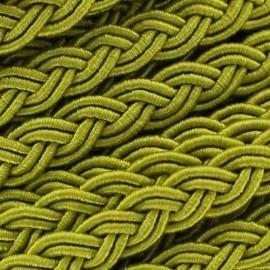 Ruban galon tressé 5 mm vert prairie
