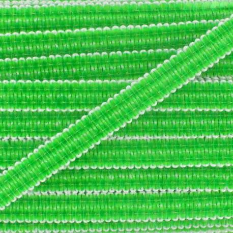Sequins braid trimming 10 mm x 50 cm - fluorescent green