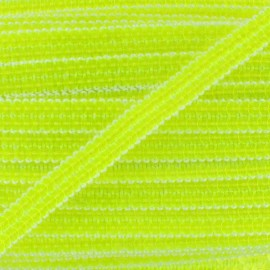 Galon paillettes jaune fluo 10 mm x 50cm