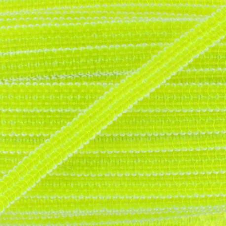 Galon paillettes jaune fluo 10 mm