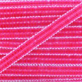 Galon paillettes rose fluo 10 mm x 50cm