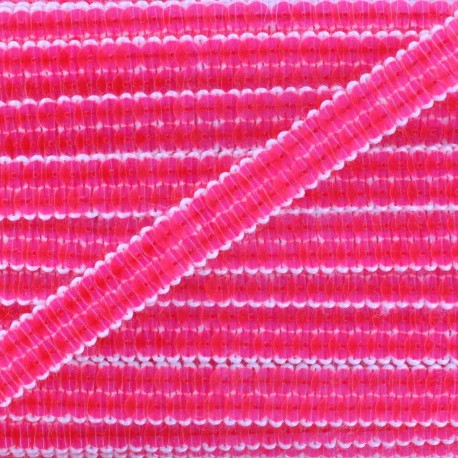 Galon paillettes rose fluo 10 mm