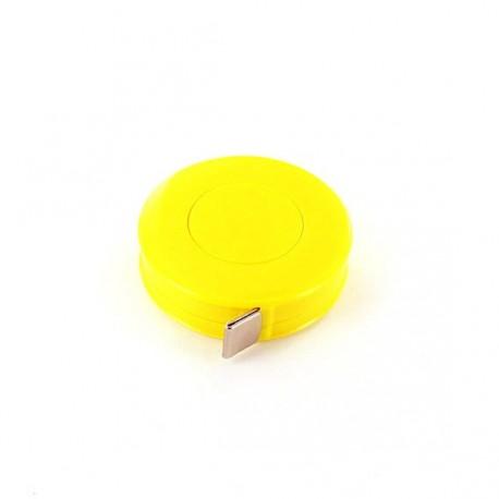 Mètre ruban enrouleur jaune