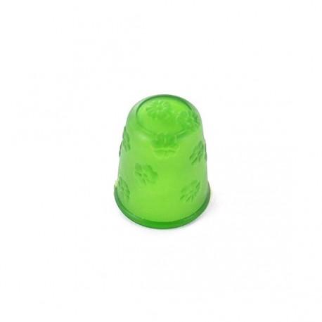 Dé à coudre silicone à fleurs vert