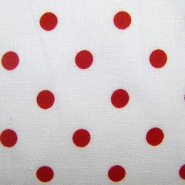 Dots Fabric - Red / White x 10cm