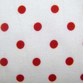 Pois rouge sur fond blanc