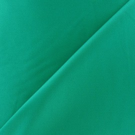 Stitched Cotton Fabric - green turquoise x 10cm