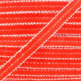 Galon paillettes orange fluo 10 mm x 50cm