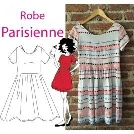"""Parisian Dress"" sewing pattern - multicolored"