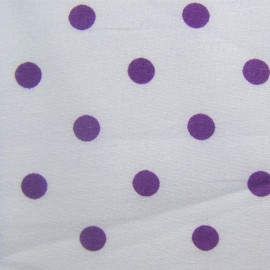 Dots Fabric - Purple / White x 10cm