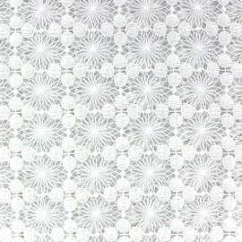 Vencel Openwork Lace Fabric - Ecru x 10cm