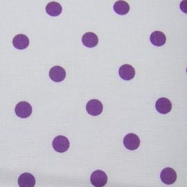 Dots Fabric - Mauve / White x 10cm