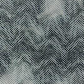 Tissu Lycra tie and dye écailles bleu x 10cm