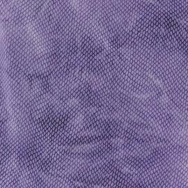 Tissu Lycra tie and dye écailles violet x 10cm