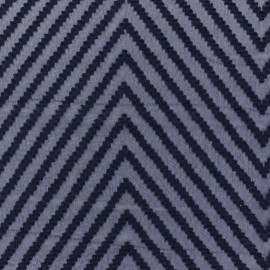 Tissu mousseline plumetis chevron marine x 50 cm