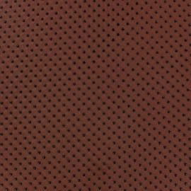 Tissu mousseline pois floqué rouille x 50 cm