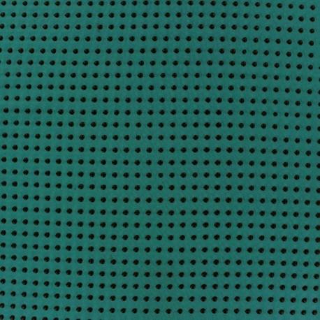 Flocked Dots Muslin Fabric - Peacock x 50cm