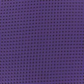 Tissu mousseline pois floqué paon x 50 cm