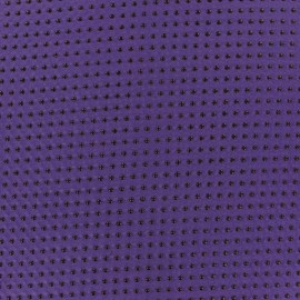 Tissu mousseline pois floqué violet x 50 cm