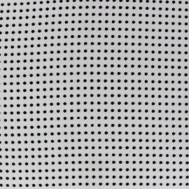 ♥ Coupon 250 cm X 150 cm ♥ Dots Muslin Fabric - White